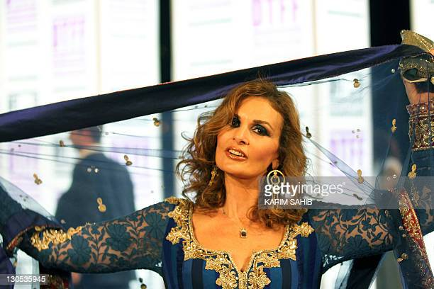 Egyptian actress Yusra attends the Doha Tribeca Film Festival in the Qatari capital on October 26 2011 AFP PHOTO/KARIM SAHIB