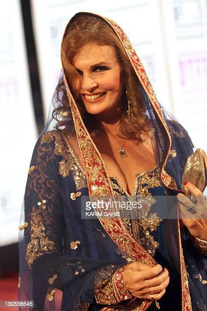 Egyptian actress Yusra attends the Doha Tribeca Film Festival in the Qatari capital on October 26 2011 AFP PHOTO/KARIM SAHIB