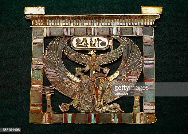 Breastplate of Pharaoh Ramses II 19th Dynasty In the middle the cobra goddess Wadjet and above the vulture goddess Nekhbet with a ram's head Made in...