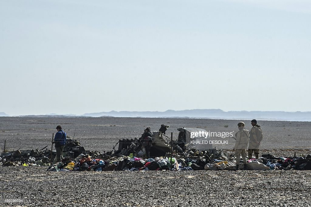 EGYPT-RUSSIA-AVIATION-ACCIDENT : News Photo