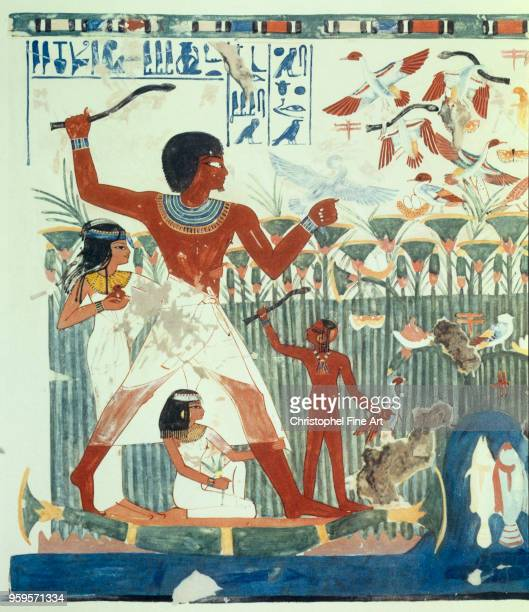 facsimile of the tomb of Nakht Amenhotep II Period 18th Dynasty Circa 14501425 BC Paris College de France