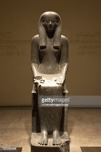 Egyptian Art Statue of Iwnit Reign of Pharaoh Amenophis III 18th Dynasty Between 1405 1367 BC New Kingdom Luxor Museum Egypt