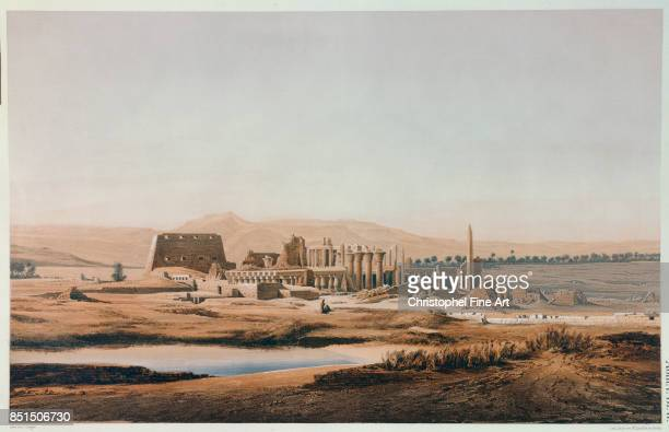 Egyptian Art The Ruins of Thebes Egypt Paris College De France