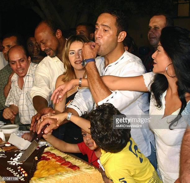 Egyptian Artists Oula Ghanem Ashraf Abdel Baqi Dunya Talaat Zein And Director Ismail Murad Celebrate The