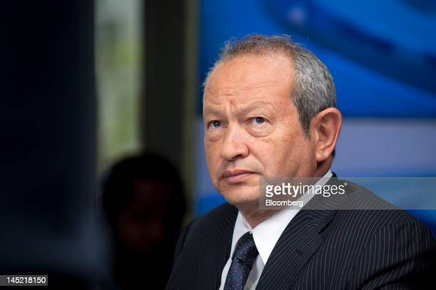 Egyptian billionaire Naguib Sawiris pauses during a Bloomberg Television interview in London UK on Thursday May 24 2012 Sawiris said he'd be willing...