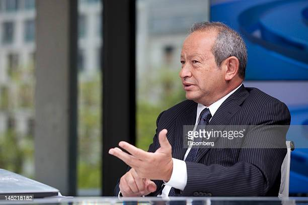 Egyptian billionaire Naguib Sawiris speaks during a Bloomberg Television interview in London UK on Thursday May 24 2012 Sawiris said he'd be willing...