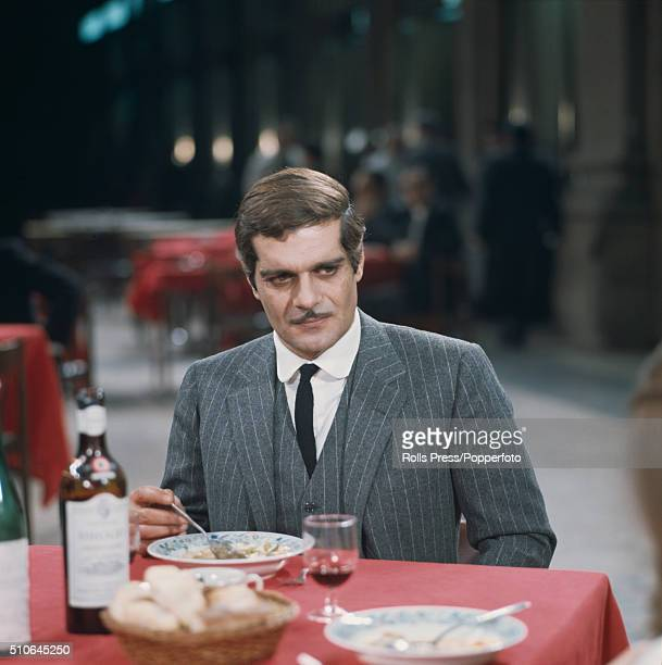 Egyptian born actor Omar Sharif pictured during filming of a scene in the Sidney Lumet directed film 'The Appointment' in Rome Italy in June 1968