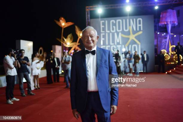 Egyptian businessman and founder of El Gouna FIlm Festival Naguib Sawiris takes to the red carpet at the closing ceremony of the 2nd El Gouna Film...