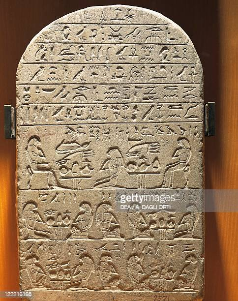 Egyptian civilization Dynasty XII Stele of Treasurer Ty From Abydos