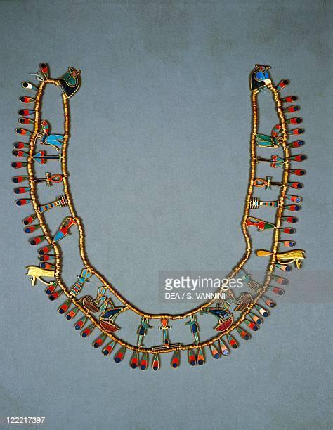 Egyptian civilization Middle Kingdom Dynasty XII Collar of Khnumit 19291897 bC From Dahshur