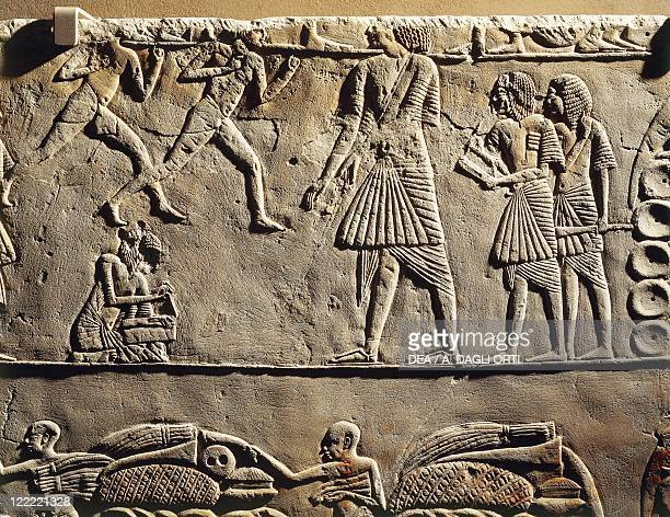 Egyptian civilization New Kingdom Dynasty XVIII 13321323 bC Life in a military camp Physical activity under the supervision of officers and scribes...