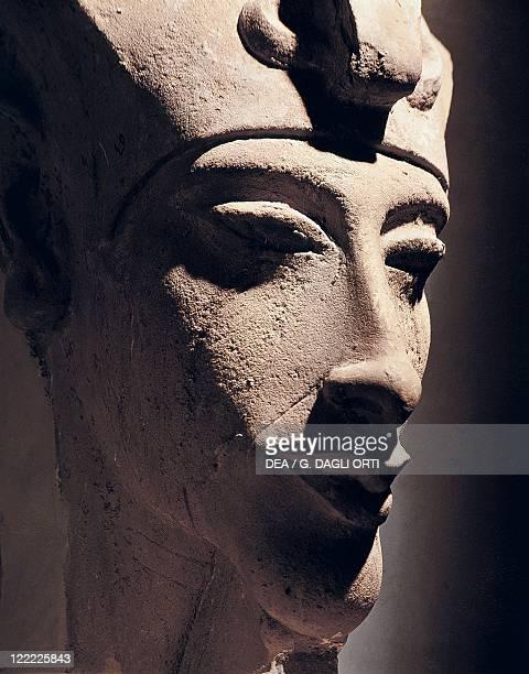 Egyptian civilization New Kingdom Dynasty XVIII Head of Amenhotep IV From Karnak