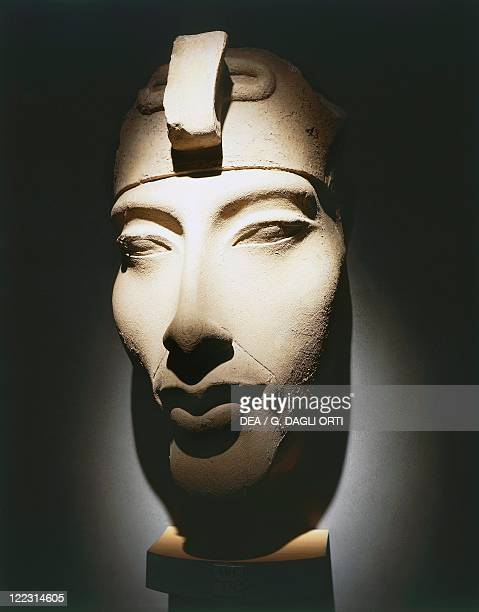 Egyptian civilization New Kingdom Dynasty XVIII Head of Pharaoh Akhenaten from Karnak