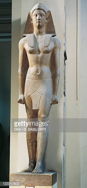 Egyptian civilization Ptolemaic Period Colossus of a Macedonian king portrayed as a Pharaoh From Karnak