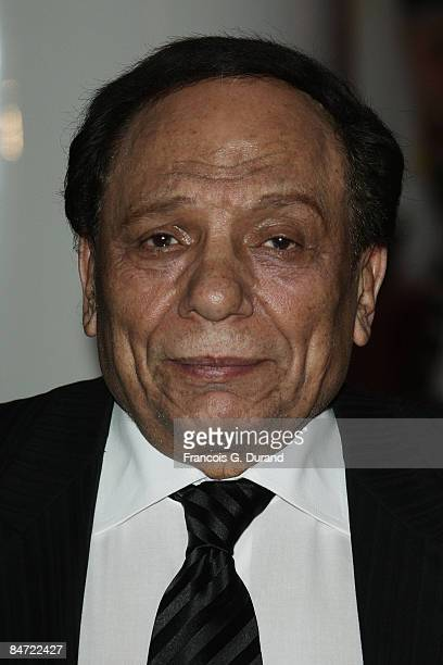 Egyptian comedian Adel Imam attends the Cinema Verite Festival Opening night on October 1O 2008 in Geneva Switzerland