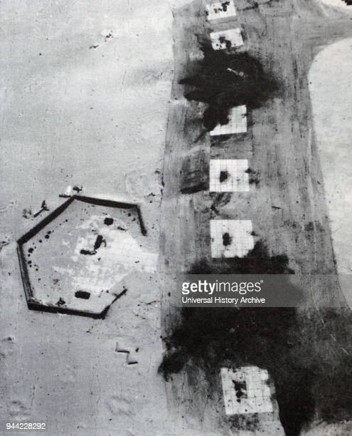 Egyptian defensive positions destroyed by the Israeli Air Force in the Sinai Peninsula during the Six Day War