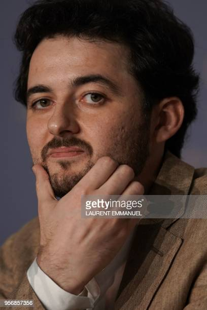 Egyptian director AB Shawky looks on during a press conference for the film 'Yomeddine' on May 10 2018 at the 71st edition of the Cannes Film...