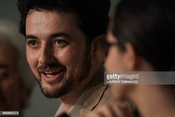 Egyptian director AB Shawky speaks during a press conference for the film 'Yomeddine' on May 10 2018 at the 71st edition of the Cannes Film Festival...