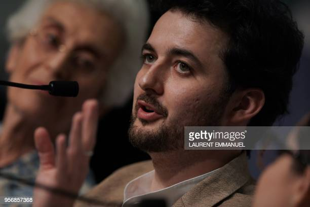 Egyptian director AB Shawky speaks on May 10 2018 during a press conference for the film 'Yomeddine' at the 71st edition of the Cannes Film Festival...