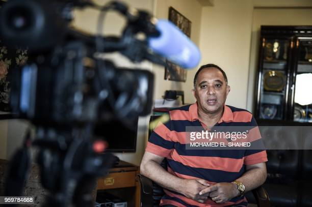 Egyptian director Hosny Saleh speaks during an interview in Cairo on May 15 2018 Soaps and dramas normally united bingewatching Arab audiences during...