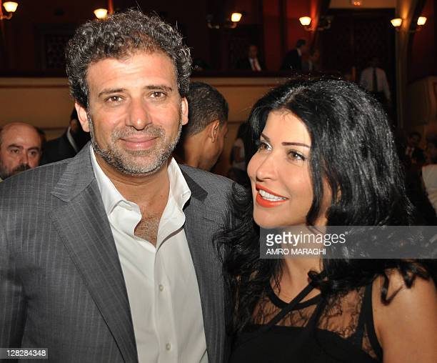 Egyptian director Khaled Yussef and Syrian actress Jumana Murad attend the opening ceremony of the 27th annual Alexandria International Film Festival...