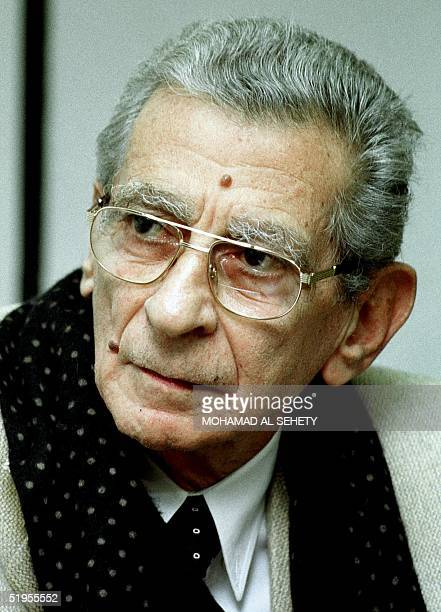 Egyptian director Yussef Chahine poses during his 75th birthday party at the Opera house in Cairo 25 January 2001. Chahine, who suffered heart...