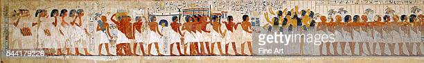 Egyptian Eighteenth Dynasty mural painting Circa 1360 BC Located in Tomb of Ramose Dayr alMadina Thebes Egypt | Location Gournah Qina Egypte