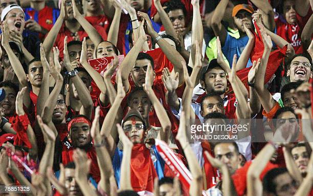 Egyptian fans of AlAhly club attend a friendly football match between their club and Portugal's Benfica in Cairo 29 July 2007 AFP PHOTO/KHALED DESOUKI