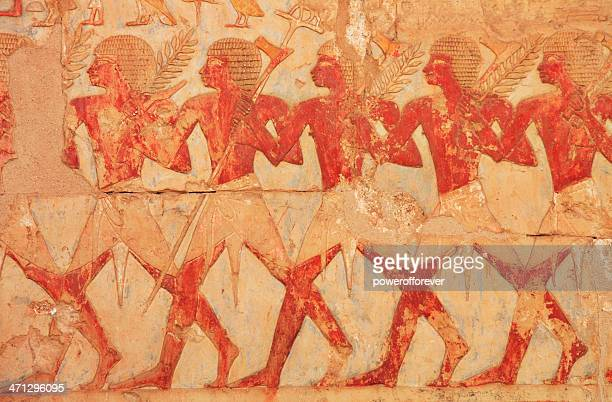 egyptian farmers hieroglyphics - hieroglyphics stock pictures, royalty-free photos & images