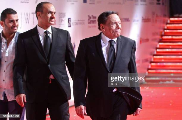 Egyptian film star Adel Imam attends the opening ceremony of the first edition of the ElGouna Film Festival in Hurghada late on September 22 2017
