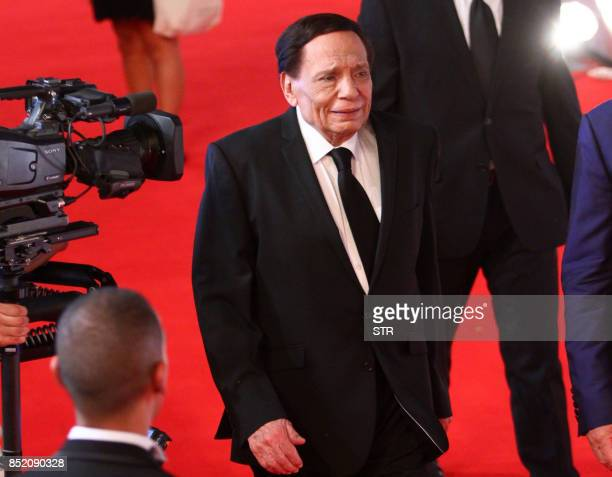Egyptian film star Adel Imamm attends the opening ceremony of the first edition of the ElGouna Film Festival in Hurghada late on September 22 2017 /...