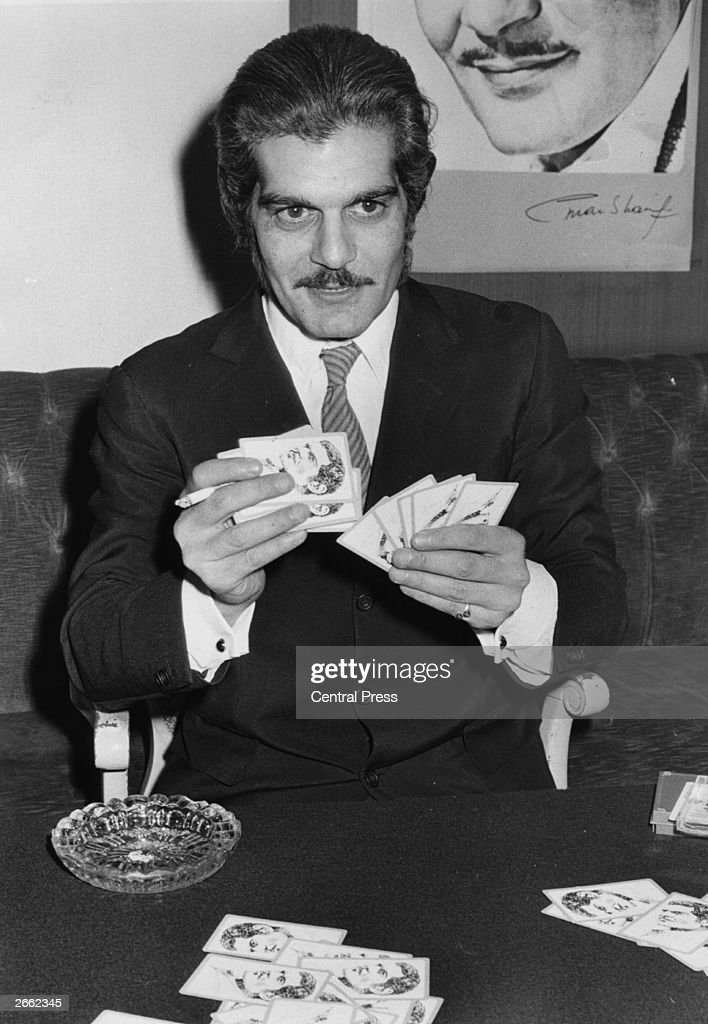 Egyptian film star Omar Sharif plays a hand of bridge. Original Publication: People Disc - HM0321