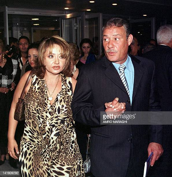 Egyptian film stars Leila Elwi and Faruk alFishawi arrive at the 19th Alexandria International Film Festival 03 September 2003 in Alexandria AFP...