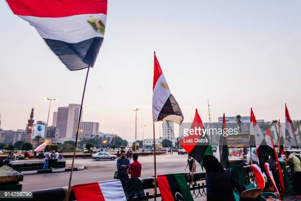 Egyptian flags at Tahrir square