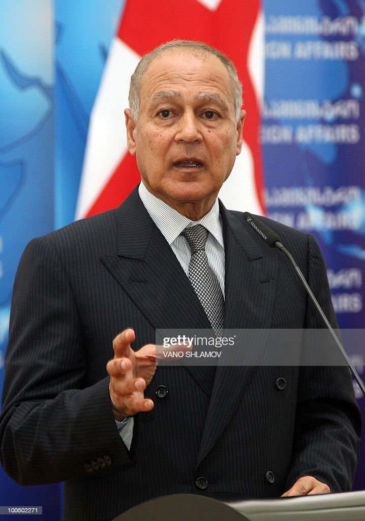 Egyptian Foreign Minister Ahmed Abul Gheit speaks during a press conference with his Georgian counterpart Grigol Vashadze, not pictured, in Tbilisi on 25 May 2010, during an official visit to Georgia focused on cooperation in economy and culture.