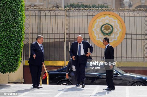 Egyptian Foreign Minister Sameh Shoukry arrived to Arab League's foreign ministers meeting on US President's Middle East peace plan in Cairo, Egypt,...