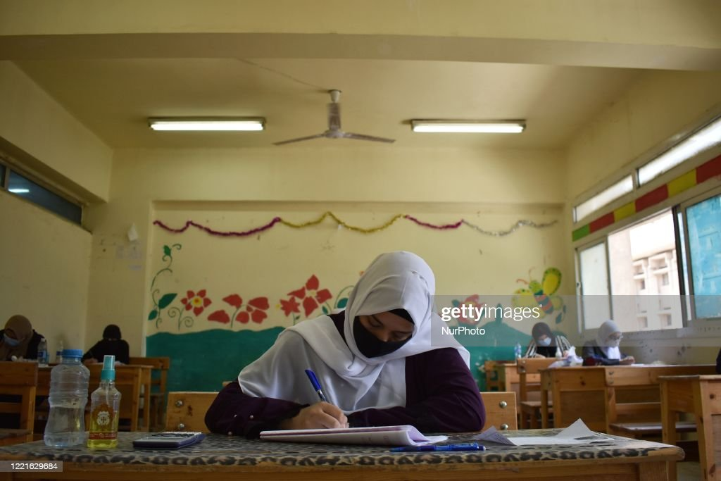 First Day Of High School Exams In Egypt : Nieuwsfoto's