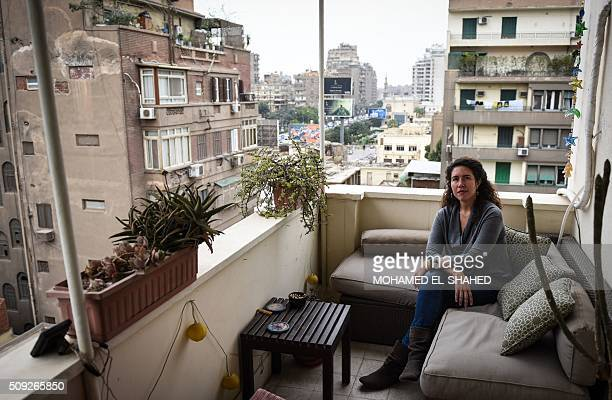 Egyptian human rights activist Heba Morayef poses for a photograph on February 8 2016 in the capital Cairo President Abdel Fattah alSisi was elected...