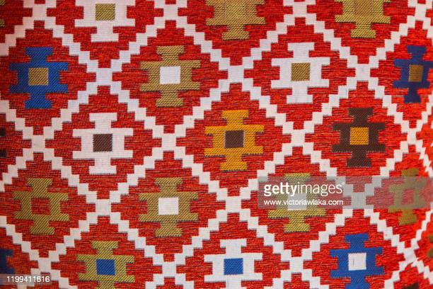 egyptian ikat fabric with traditional pattern - イカット ストックフォトと画像
