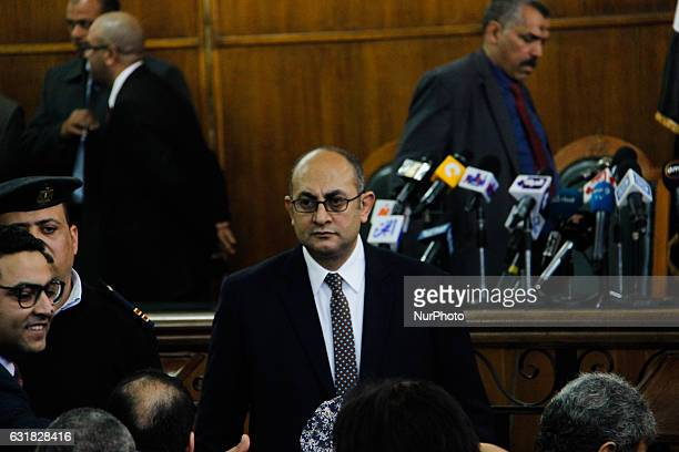 Egyptian lawyer and leftist opposition figure Khaled Ali in the courthouse in Cairo before the verdict Supreme Administrative Court said two islands...