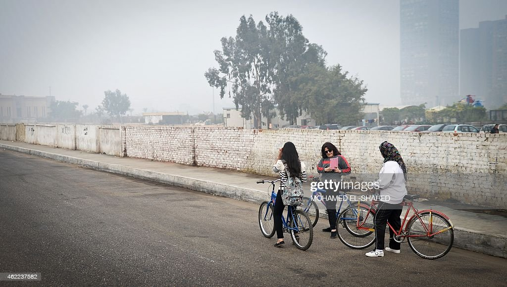 EGYPT-WOMEN-CYCLING-LIFESTYLE : News Photo