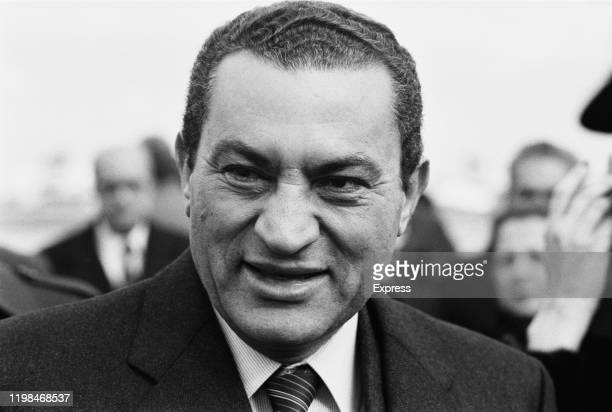 Egyptian military and political leader Hosni Mubarak, President of Egypt, UK, 14th March 1985.