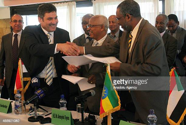 Egyptian Minister of Water Resources and Irrigation Hossam Moghazy Alemayehu Tegenu Ethiopian Minister of Water Irrigation and Energy and Sudan's...