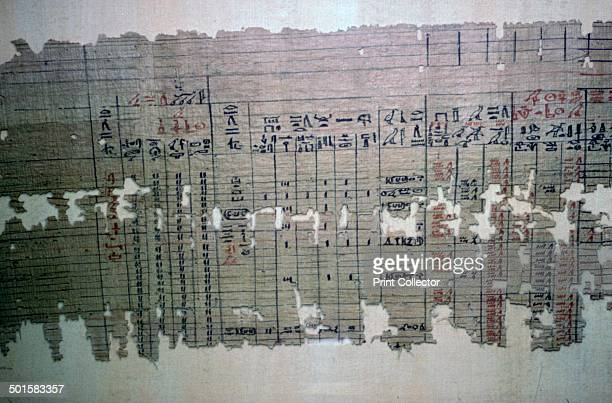 Egyptian monthly accounts from the archive of a temple similar to a modern spreadsheet in analysis From the Louvre's collection