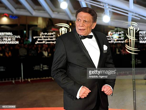 Egyptian movie and stage actor Adel Emam attends the Jury Photocall during the 14th Marrakech International Film Festival on December 5 2014 in...