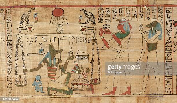 Detail from the Book of the Dead of the priest Aha-Mer