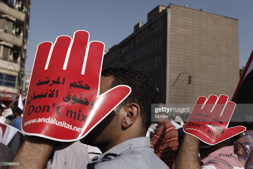 Protests Mark The Anniversary Of Morsi Election : News Photo