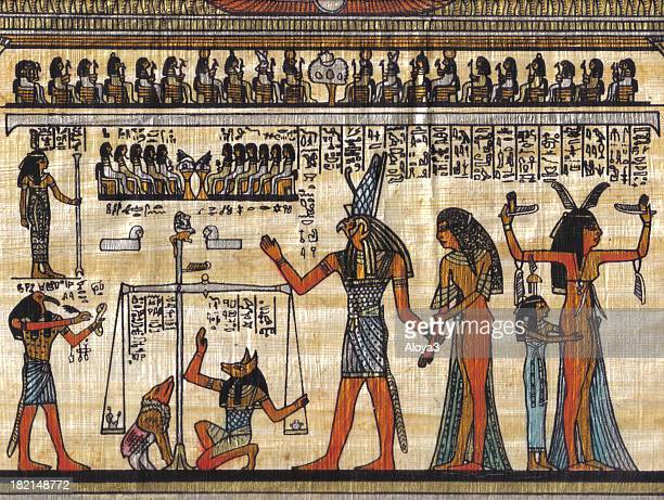 egyptian papyrus - egyptian god stock pictures, royalty-free photos & images