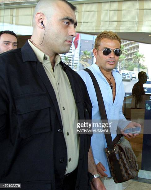 Egyptian pop star Amro Diab arrives 22 May 2003 in Beirut Diab will join Rotana a musical production company owned by Saudi Prince AlWalid bin Talal...