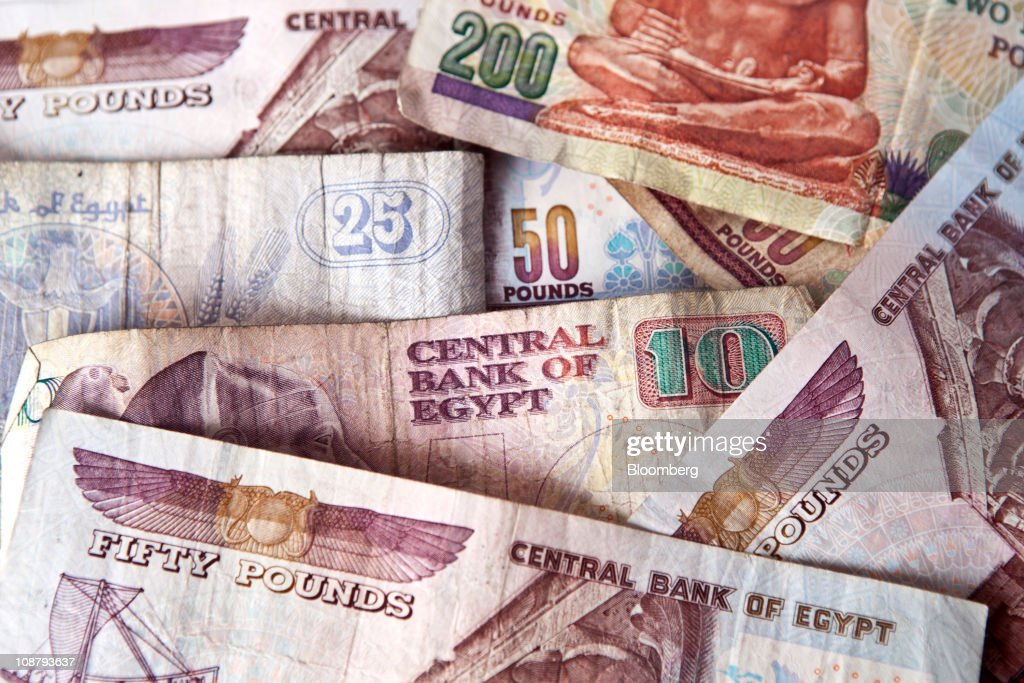 Egyptian Bank Notes And Coins : News Photo